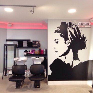 Bow Lane Hairdressing - interior glamour