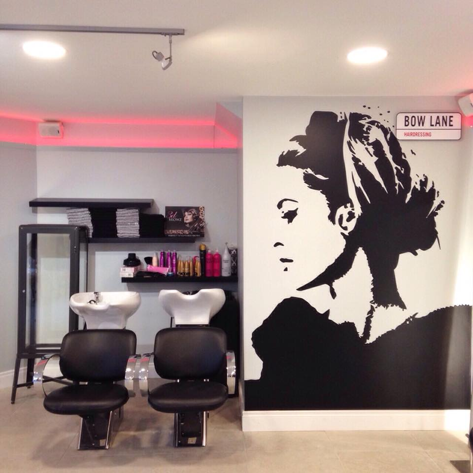 Bow Lane Hairdressing - interior glamour