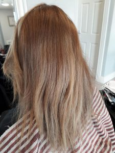 Before photo of ombre colour