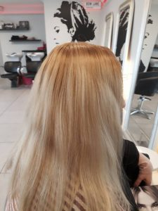 Blonde hair needing toned down