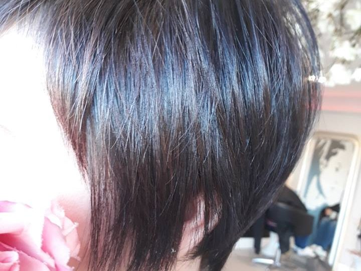 black to brown after